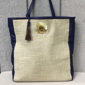 Mud Pie 🐚 Seashell Tote Bag
